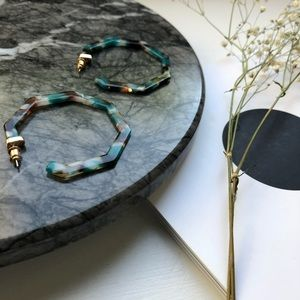 Jewelry - Geometric Resin Hoops